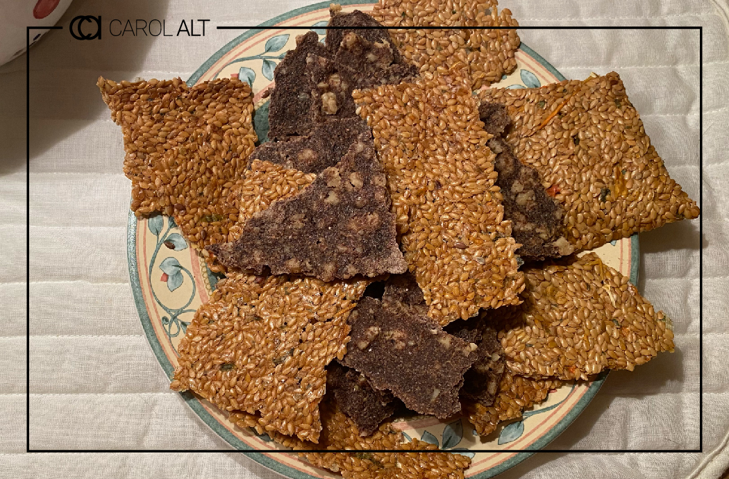 Flax Seed Cracker Recipe Header