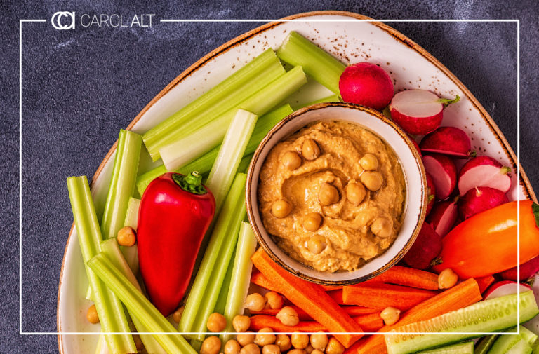 Raw Hummus Recipe Header